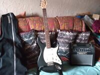 Cort G110 electric guitar and amp (as new)