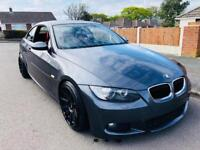 *2007* BMW 320D M-SPORT 2 DOOR COUPE 6 SPEED MANUAL REMAPPED+LOWERED+19INCH ALLOYS SPARES + REPAIRS