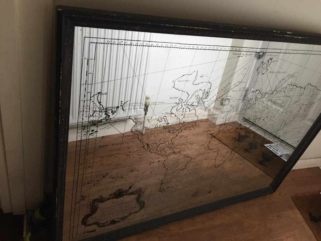 Large world map mirror in hedge end hampshire gumtree large world map mirror gumiabroncs Image collections