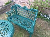 Cast iron garden bench (new ) just painted