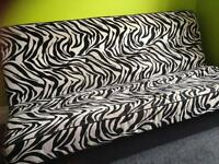 Black/White Zebra Print Click-Clack Sofa Bed