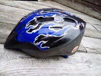 Blue kids bike helmet age 6-10 (size 50-55cm)