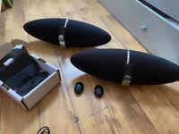 2x B&W Zeppelin Speakers system Bowers Wilkinns - 30pin model -bluetooth adaptor - wall mount