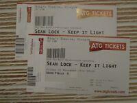 2 Front Row Sean Lock Tickets, Friday 25 Nov 2016 at King's Theatre, Glasgow.