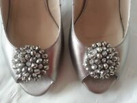 LADIES LOTUS SILVER SHOES SIZE 7
