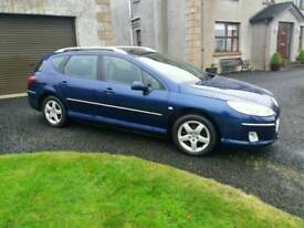 Dec 2005 Peugeot 407 SW, 1.6HDI diesel, full MOT, Estate, blue,