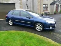 Dec 2005 Peugeot 407 SW, 1.6 diesel, Estate, blue