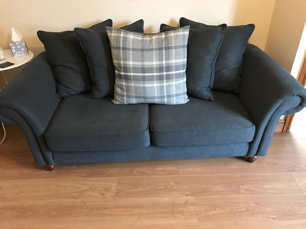 Heart of House 3 Seater Sofa & Cuddle Chair - Charcoal