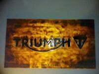 Triumph garage sign//man-cave/wall art.