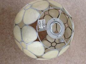 Capiz shell lampshade