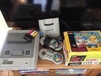 Super Nintendo snes bundle with games