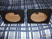 "New Pair of 6x9"" Speaker Bass Box Enclosure Black Carpet 15mm MDF"
