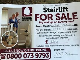 New Acorn Stairlift for sale