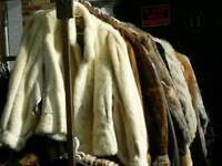 Joblot of 10 real fur coats great for wholesale, carboot