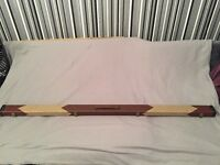 1 piece snooker cue and case with 2 extensions brand new for sale