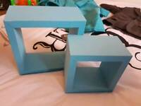 Blue shelve set