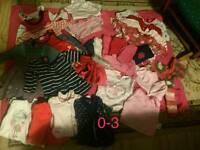 0 - 3 months girls clothes