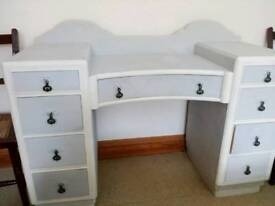 Art deco dressing table and bedside cabinet