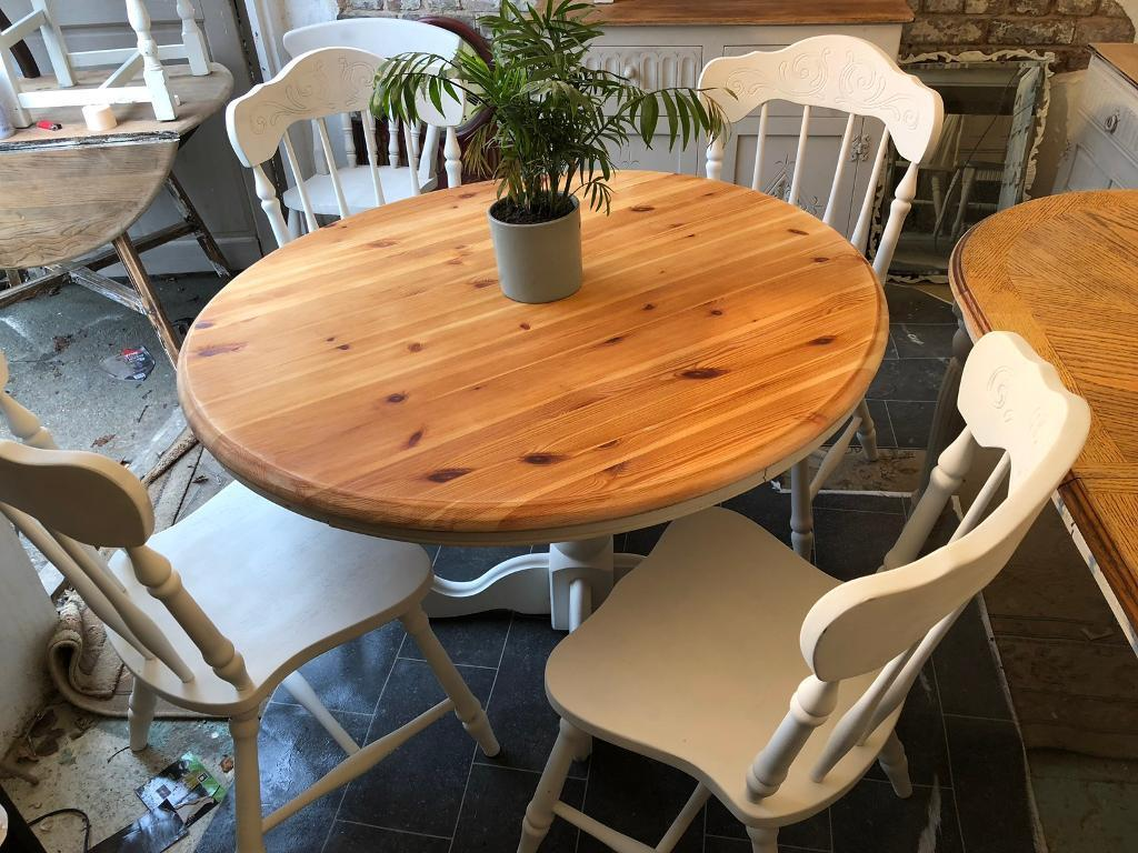 antique pine kitchen table and chairs