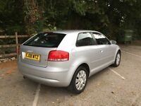 Audi A3, excellent condition. 2008, 75000 miles, 1.6 engine, 3 door, silver. Derby. £4000