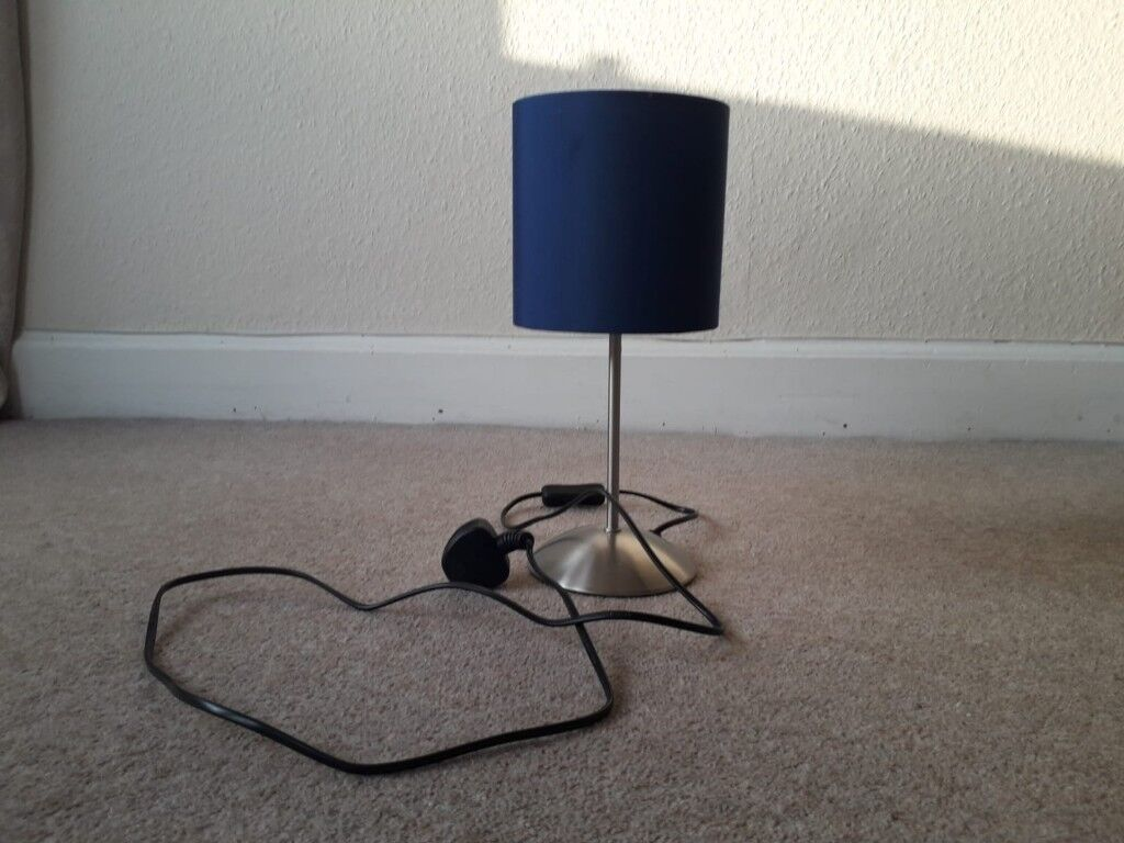Blue or purple table lamp