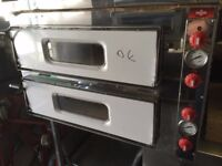 """CATERING COMMERCIAL BRAND NEW DOUBLE DECK 8 X 13"""" PIZZA OVEN FAST FOOD CUISINE KITCHEN COMMERCIAL"""