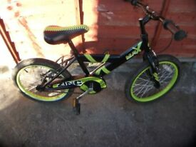 boys bike 18in wheels 5-8yrs