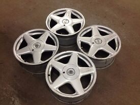 "AZEV A 8J 17"" 5X112 DEEP DISH ALLOY WHEELS, ORIGINAL MADE IN GERMANY not keskin, AEZ"