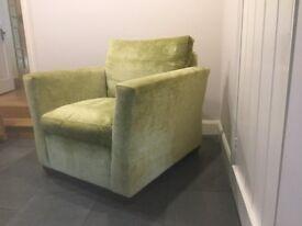 Stylish velvet armchairs x2