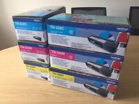 Genuine Brother TN-320C, 320M, 320Y Toner cartridges