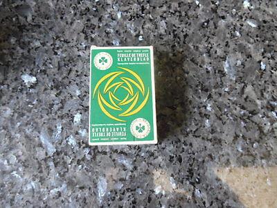 ancien jeu de carte publicitaire engrais feuilles de trefle