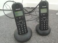 Panasonic cordless phones (2). As new. Black.