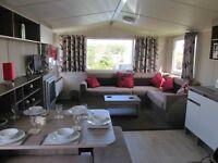 Beautiful 3 bed caravan with decking for sale at Craig Tara Holiday Park