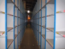 JOB LOT 50 BAYS dexion heavy duty industrial shelving 2.1m high ( storage , pallet racking )