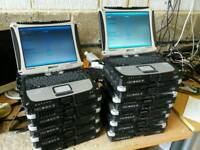 Joblot of 11 Panasonic toughbook CF-19 core 2 duo, 2GB RAM