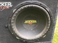 Kicker subwoofer with kicker amp
