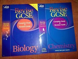 Revise GCSE chemistry & biology revision guides