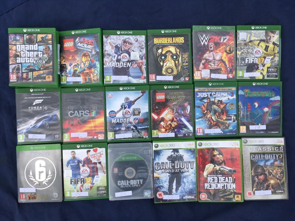 Cheap Xbox one games bundlein Hinckley, LeicestershireGumtree - Madden 17 £25Wk2017 (brand new still sealed) £25GTA 5 £25Call of duty world at war £10 Borderlands £15Just cause 3 £15Project cars £15Fallout 4 £15 Fifa 15 £5 Fifa 16 £10 Lego movie video game £15Rainbow six siege (includes vegas 1 and 2)...