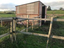 Horse field shelter
