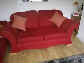 2x Two seater sofa