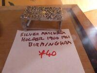 Lovely collectible silver matchbox holder Birmingham 1900 1901 £30