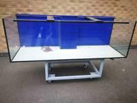 New 6x2x2 fish tank, Marine Aquarium 660l 10 mm glass -Free Delivery