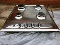 Stainless steel Baumatic gas hob in good working order