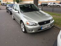 LEXUS IS200 2L Petrol Brilliant example 1 OWNER from new FULL SERVICE HISTORY toyota ford vw