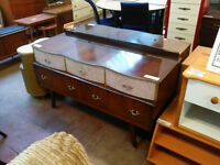 Vintage 5 drawer dressing table with mirror