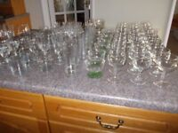 Drinking glasses some in sets in very good condition