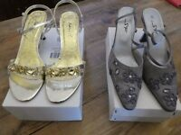 Four pairs of size 6 ladies shoes, all in perfect condition. Only one pair ever worn.