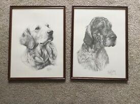 Pair Of Mike Sibley Vintage Dog Prints