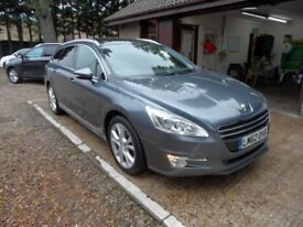 PEUGEOT 508 2.0 HDI SW ALLURE 5d 140 BHP SAT-NAV, GLASS ROOF, (grey) 2012