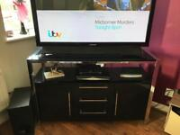 Black high gloss and chrome tv cabinet/ sideboard